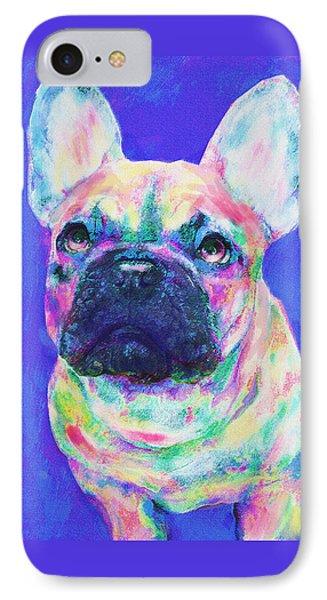 IPhone Case featuring the digital art Rainbow French Bulldog by Jane Schnetlage