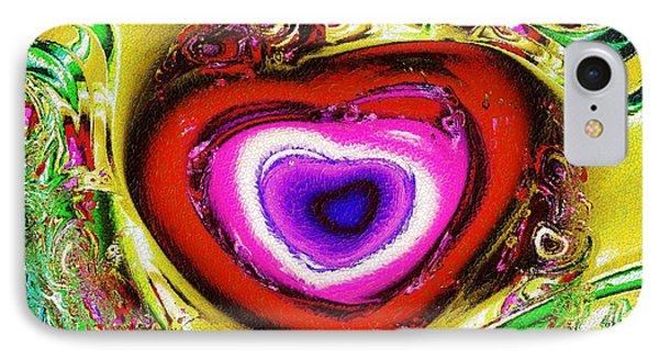 Rainbow Heart IPhone Case by Anastasiya Malakhova