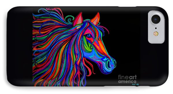 Rainbow Horse Head IPhone Case by Nick Gustafson