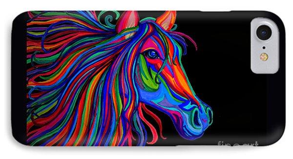 Rainbow Horse Head Phone Case by Nick Gustafson