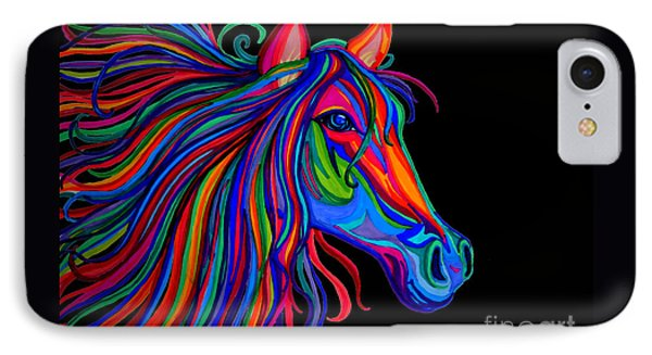 Rainbow Horse Head IPhone Case by Nick Gustafson