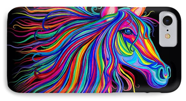Rainbow Horse Too IPhone Case by Nick Gustafson