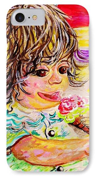 Rainbow Ice Cream Phone Case by Eloise Schneider
