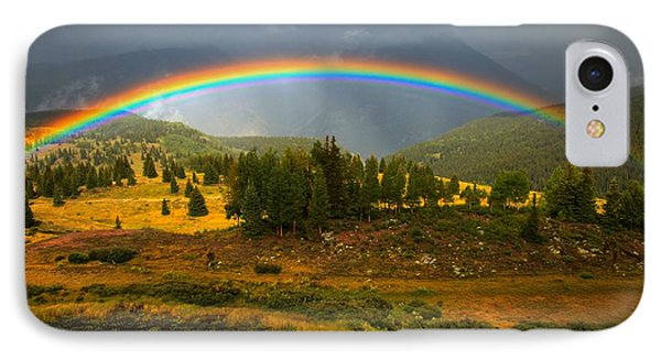 Rainbow In The Forest IPhone Case