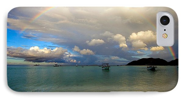 Rainbow In The Seychelles Phone Case by Tim Holt