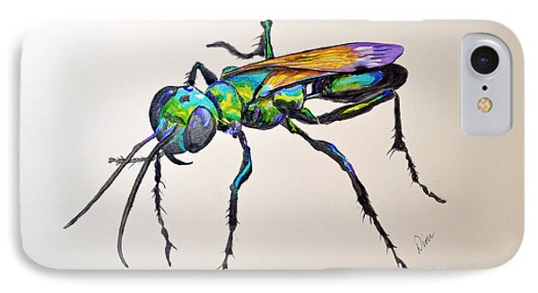 Rainbow Insect Phone Case by Dion Dior