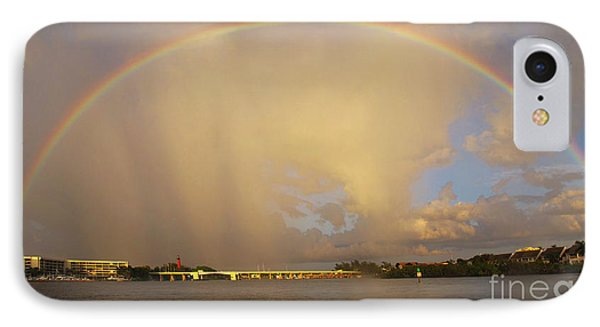 Rainbow Jupiter Inlet Phone Case by Bruce Bain
