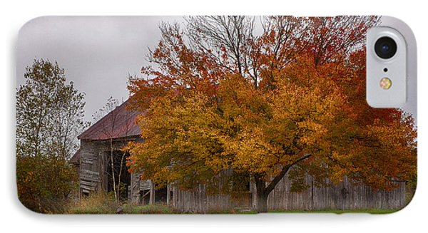 IPhone Case featuring the photograph Rainbow Of Color In Front Of Nh Barn by Jeff Folger