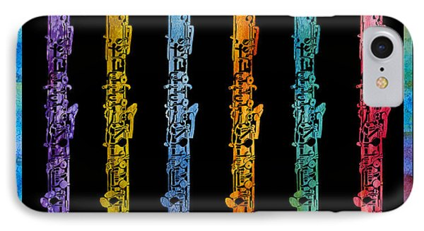 Rainbow Of Oboes IPhone Case by Jenny Armitage
