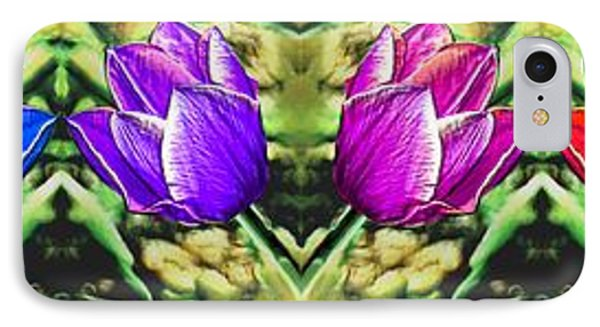 Rainbow Of Tulips IPhone Case by Bruce Nutting