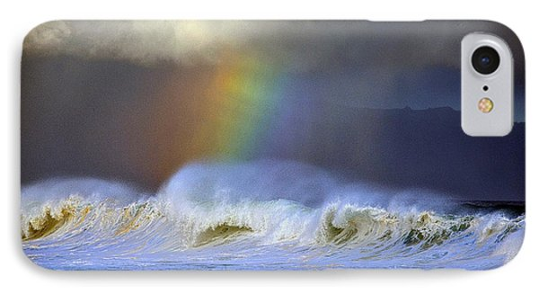 IPhone Case featuring the photograph Rainbow On The Banzai Pipeline At The North Shore Of Oahu by Aloha Art