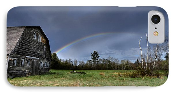 Rainbow On The Farm Phone Case by Alana Ranney