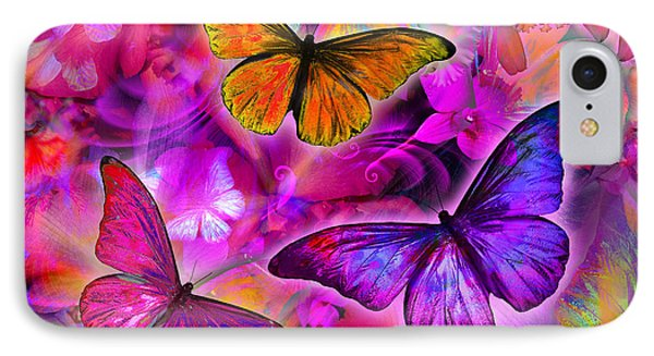 Rainbow Orchid Morpheus Phone Case by Alixandra Mullins