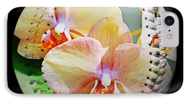 Rainbow Orchids Baseball Square Phone Case by Andee Design