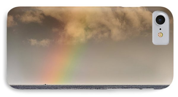 Rainbow Over A Black Ocean Phone Case by Colin Utz