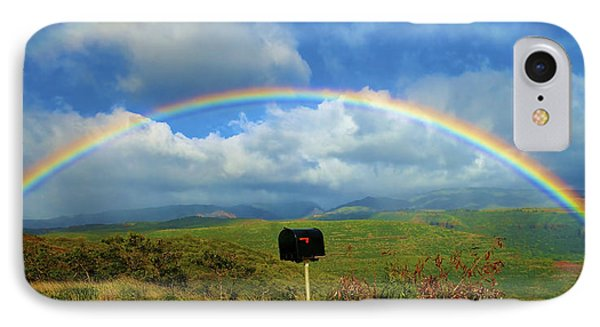 Rainbow Over A Mailbox Phone Case by Kicka Witte