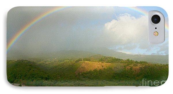 Rainbow Over Boquete Phone Case by Heiko Koehrer-Wagner