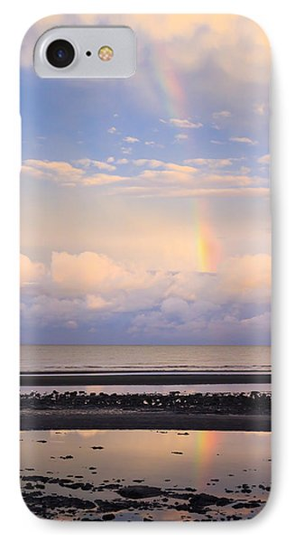 IPhone Case featuring the photograph Rainbow Over Bramble Bay by Peta Thames