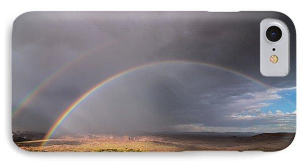 Rainbow Over Desert IPhone Case by Michael J Bauer