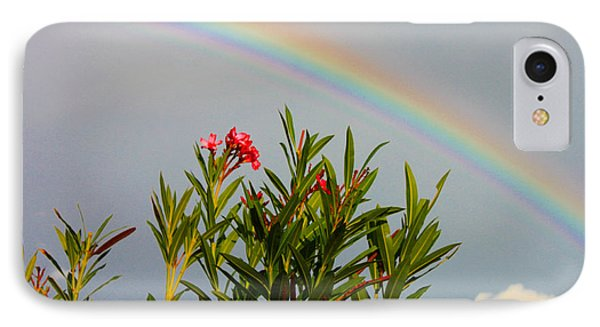 Rainbow Over Flower IPhone Case