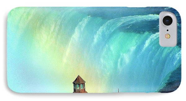 IPhone Case featuring the photograph Rainbow Over Horseshoe Falls by Janette Boyd