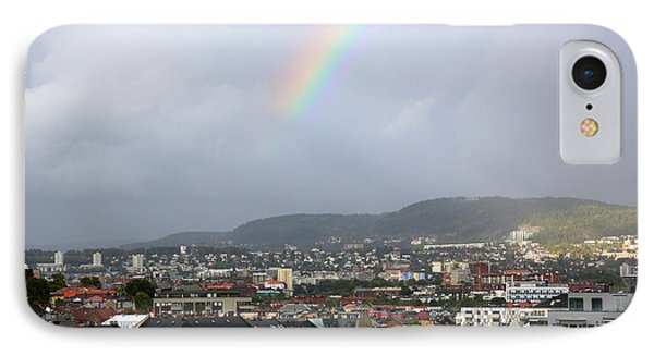 Rainbow Over Oslo Phone Case by Carol Groenen