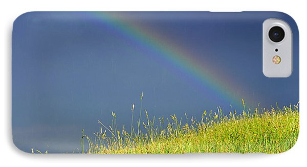 Rainbow Over Pasture Field Phone Case by Thomas R Fletcher