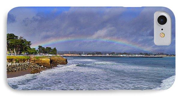 Rainbow Over Santa Cruz IPhone Case by Randy Straka
