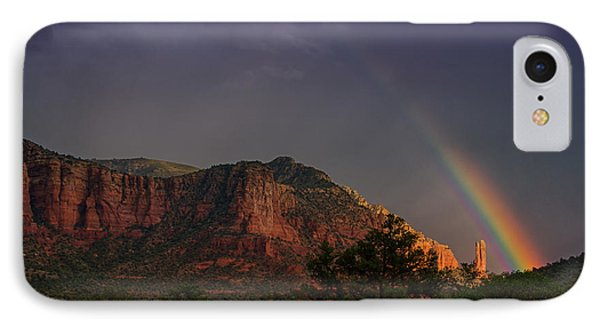 Rainbow Over Sedona  IPhone Case by Saija  Lehtonen
