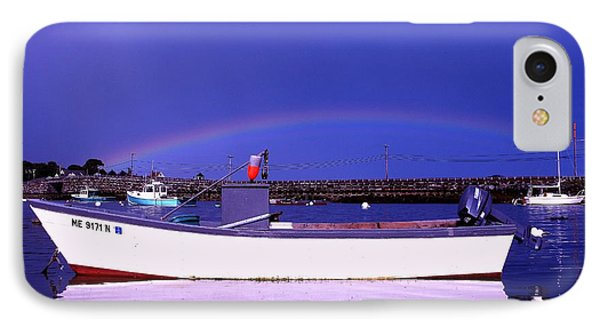 Rainbow Over The Cribstone IPhone Case by Donnie Freeman