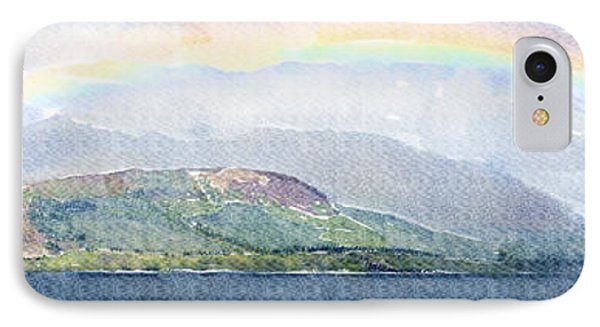 Rainbow Over The Isle Of Arran IPhone Case by Liz Leyden