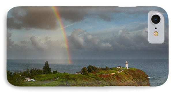 Rainbow Over Kilauea Lighthouse On Kauai IPhone Case by IPics Photography