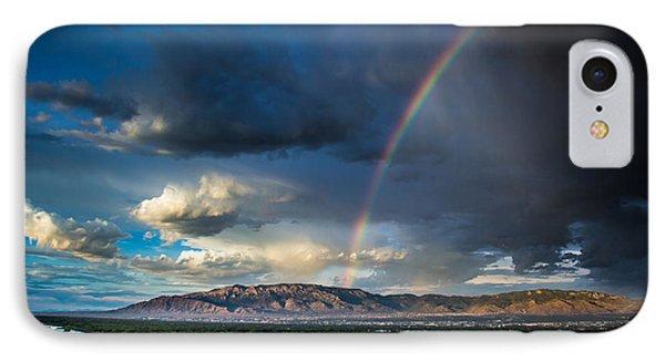 Rainbow Over The Sandias IPhone Case by Jim McCain