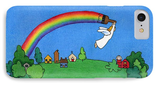 Rainbow Painter Phone Case by Sarah Batalka