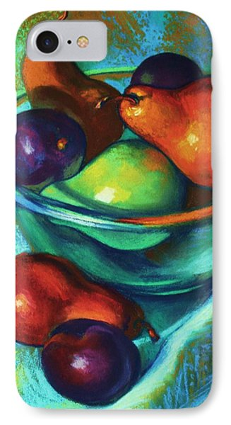 Rainbow Pears IPhone Case by Peggy Wrobleski