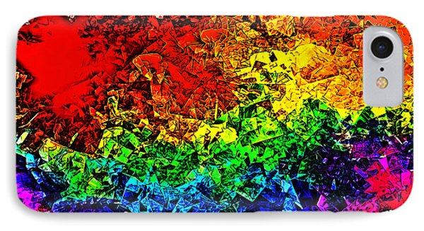 IPhone Case featuring the digital art Rainbow Pieces by Bartz Johnson