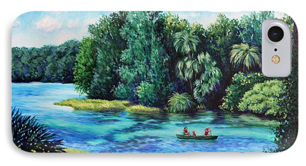 Rainbow River At Rainbow Springs Florida IPhone Case by Penny Birch-Williams