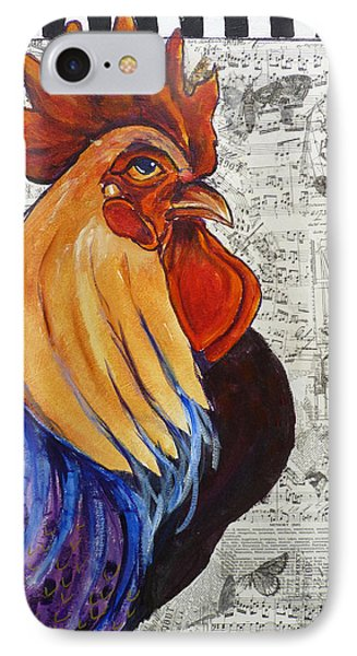 Rainbow Rooster IPhone Case by P Maure Bausch