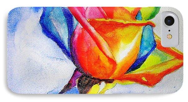 Rainbow Rose IPhone Case by Carlin Blahnik