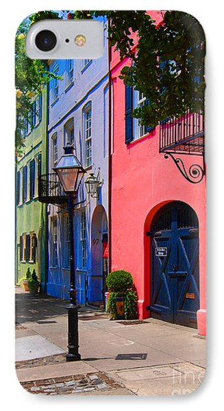 Rainbow Row Charleston IPhone Case by Skip Willits