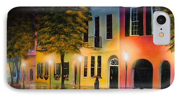 IPhone Case featuring the painting Rainbow Row by Chris Fraser
