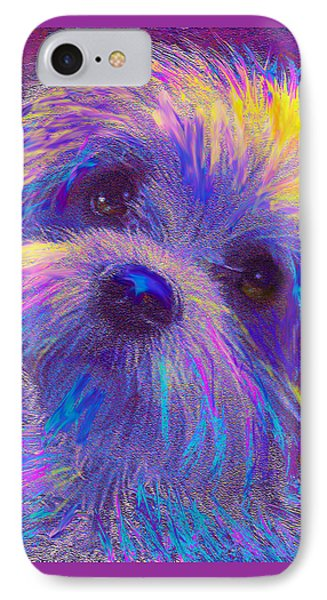 Rainbow Shih Tzu IPhone Case by Jane Schnetlage