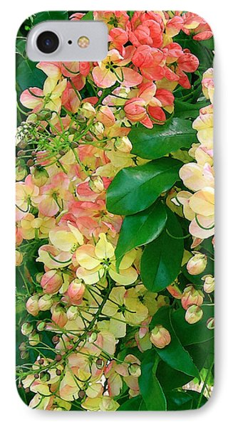 Rainbow Shower Tree Phone Case by James Temple