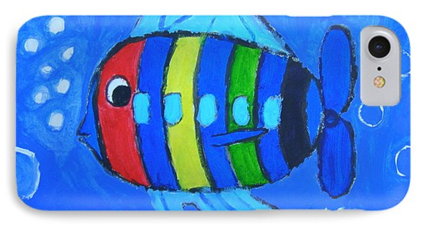 Rainbow Submarine Fish IPhone Case by Artists With Autism Inc