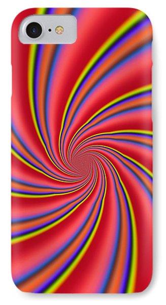 Rainbow Swirls Phone Case by Paul Sale Vern Hoffman