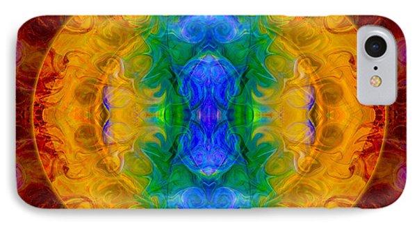 A Rainbow Of Chaos Abstract Mandala Artwork By Omaste Witkowski Phone Case by Omaste Witkowski