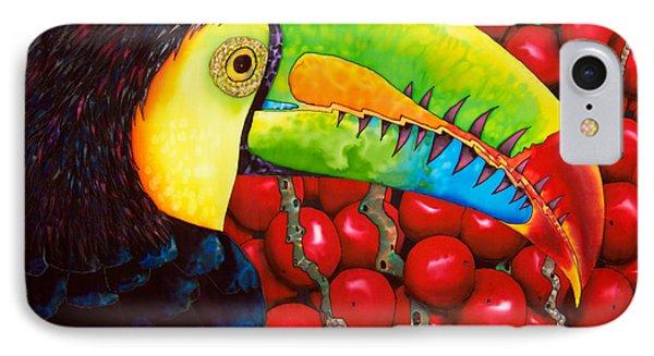 Rainbow Toucan Phone Case by Daniel Jean-Baptiste