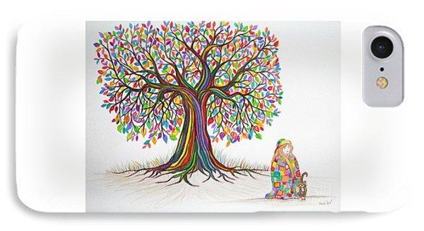 Rainbow Tree Dreams Phone Case by Nick Gustafson
