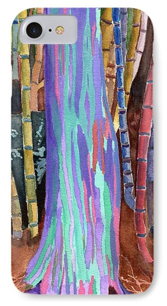 Rainbow Tree IPhone Case by Lynne Reichhart