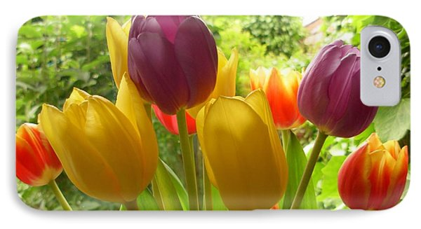 Rainbow Tulips  IPhone Case